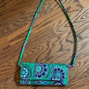 Vera Bradley trifold wallet crossbody